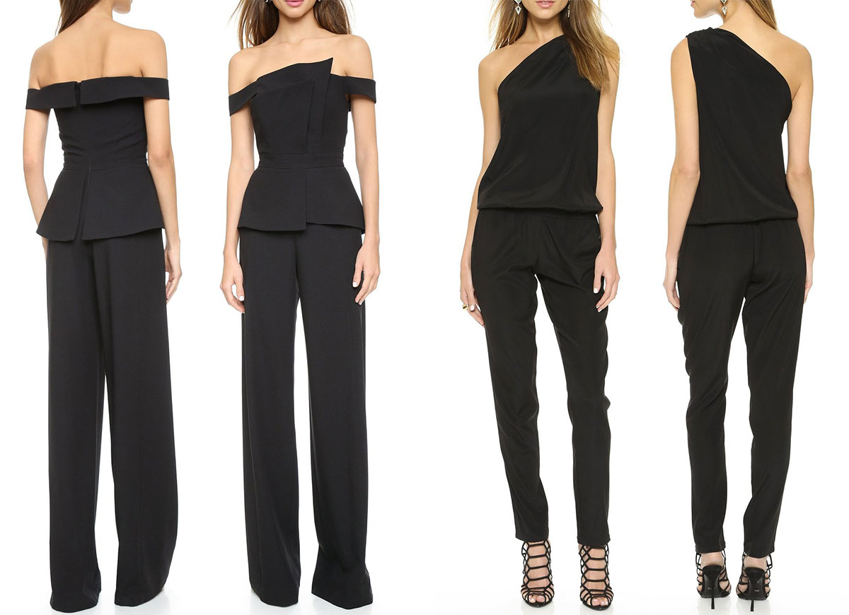 flattering black jumpsuits for evening or day wear