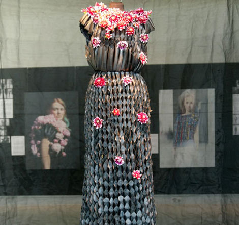 Flower dress Fashion Architecture exhibition