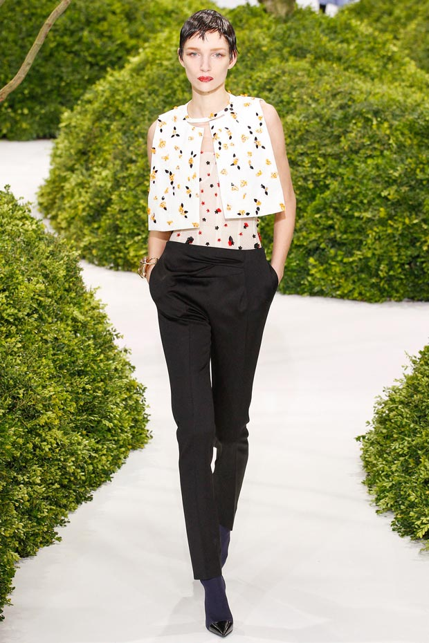 flower panels top pants Dior Couture Spring 2013 collection