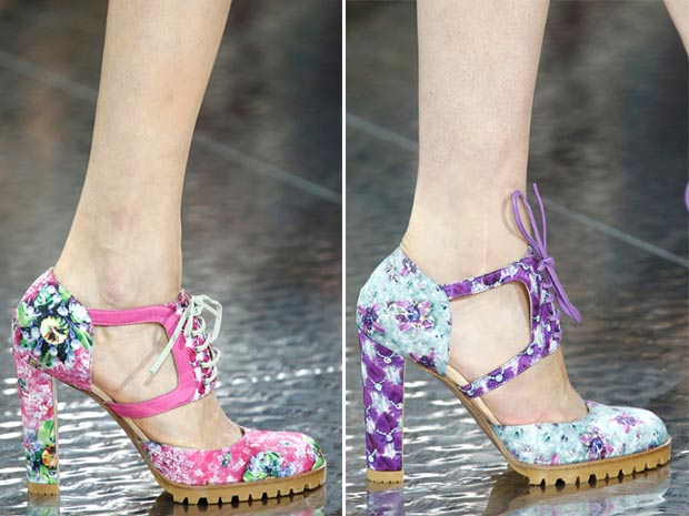 Flower print Brogues Spring Summer 2014 Mary Katrantzou