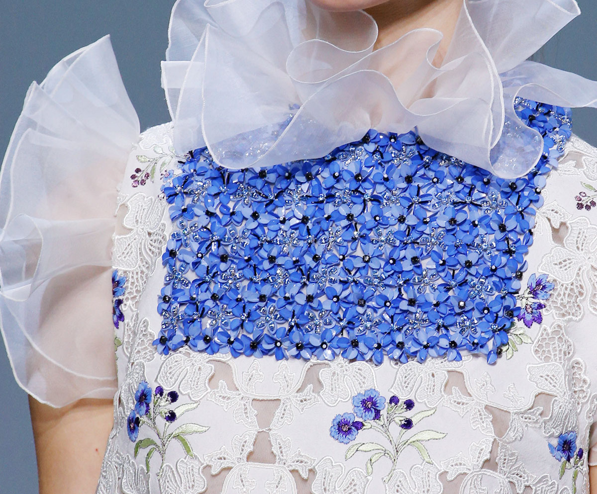 flowers Couture Giambattista Valli Spring 2016