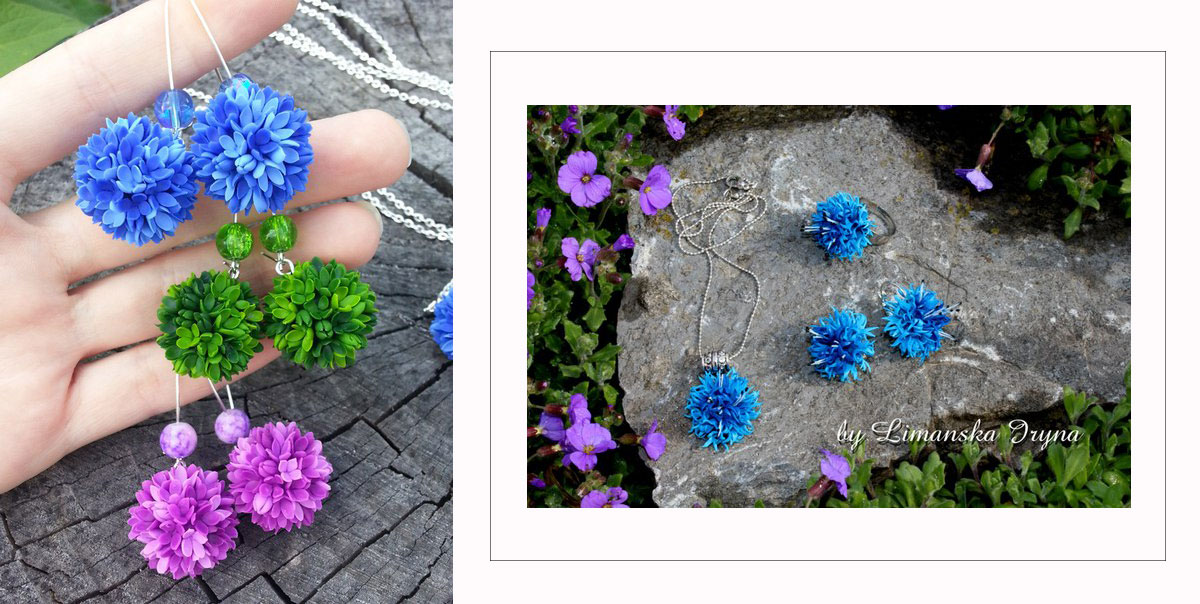 flowers earrings necklace