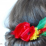 flowers haircomb how to diy