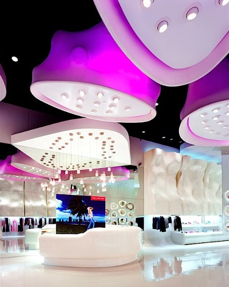 Interior Design Meet Alien Culture – Fornarina Store Las Vegas