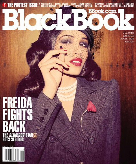Freida Pinto's BlackBook Magazine November 2010