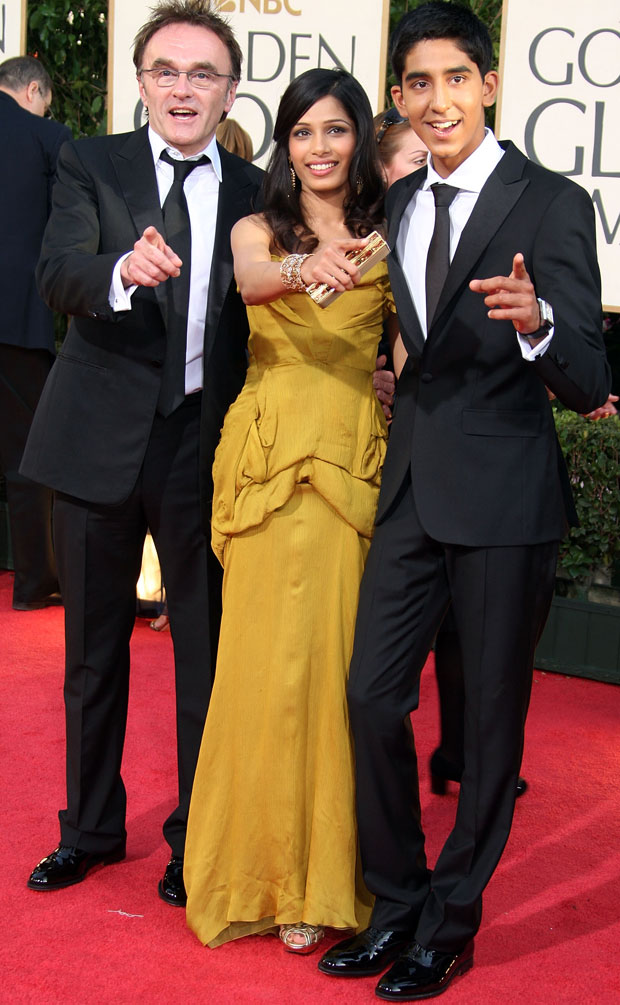 Freida Pinto's Christian Lacroix Dress At The Golden Globes 2009