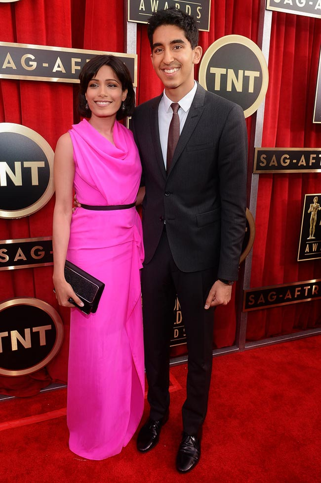 Freida Pinto Dev Patel 2013 SAG Awards Red Carpet