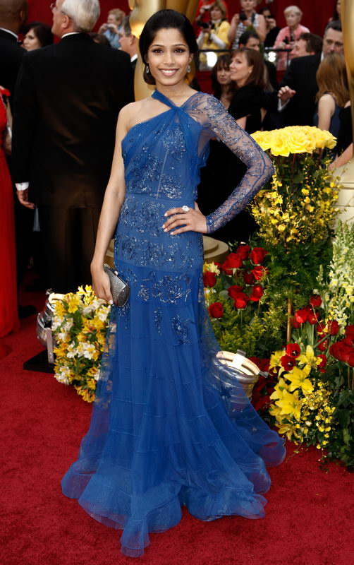 freida pinto john galliano dress oscars 2009 2