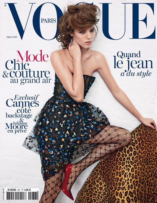 Freja Beha Erichsen back in Vogue Paris May 2013