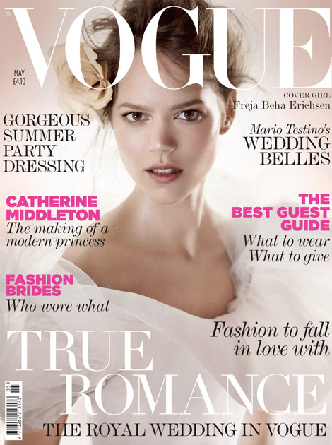 Freja Beha Erichsen Vogue UK May 2011 cover