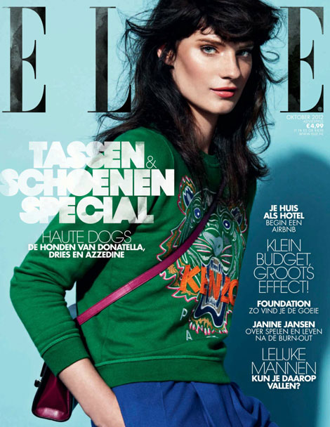 Fresh Cover Elle Netherlands October 2012 (Querelle Jansen)