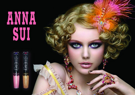 Frida Gustavsson's Anna Sui Beauty Spring 2011 Ad Campaign