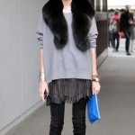 fringe leather mini skirt Taylor Tomasi Hill