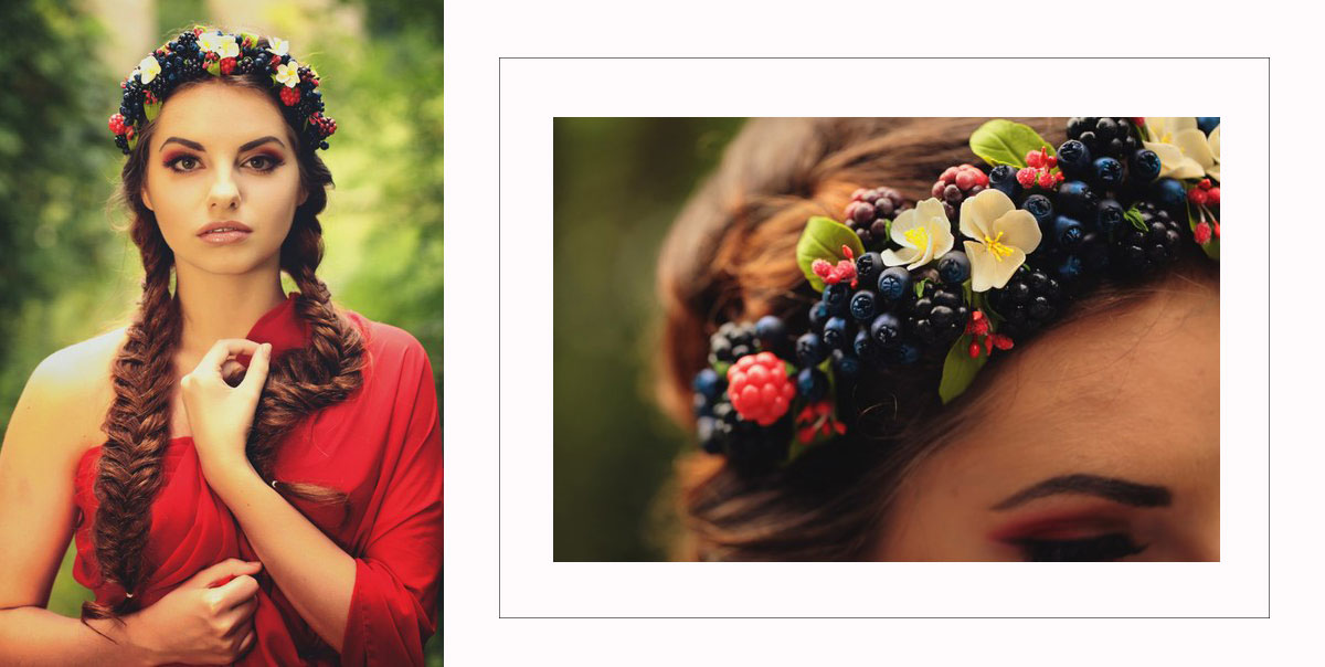 fruits and flowers headband Iryna Limanska
