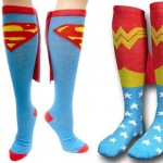 funny socks Superhero caped socks