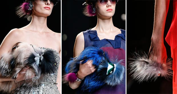 fur bags earrings Fendi Spring Summer 2014