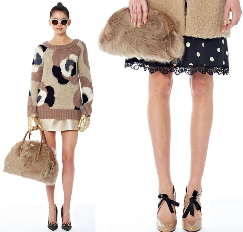 fur bags Fall 2014 Kate Spade New York