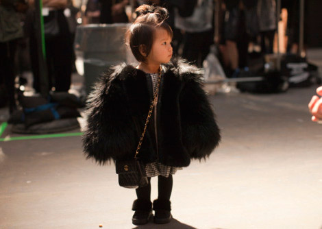Stylish Tots: Fur Coat Chanel Bag