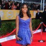Gabby Douglas blue dress 2013 SAG Awards
