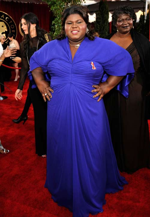 Gabourey Sidibe blue dress 2010 SAG Awards 2