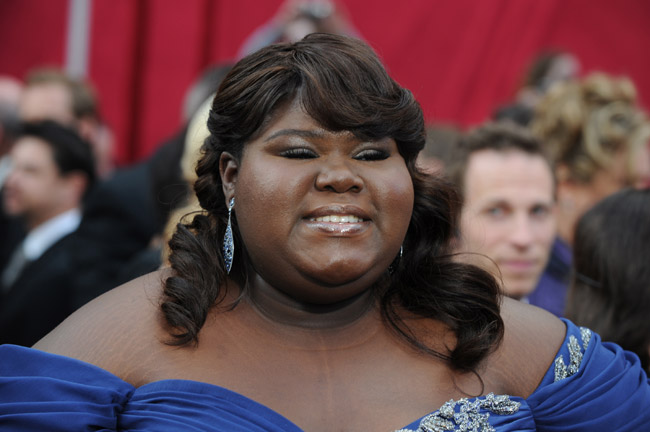 Gabourey Sidibe Marchesa dress 2010 Oscars 1