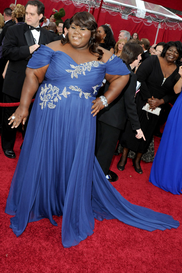 Gabourey Sidibe Marchesa dress 2010 Oscars 3
