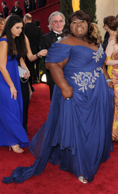 Gabourey Sidibe Marchesa dress 2010 Oscars