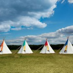 garden tepees Kate Moss wedding