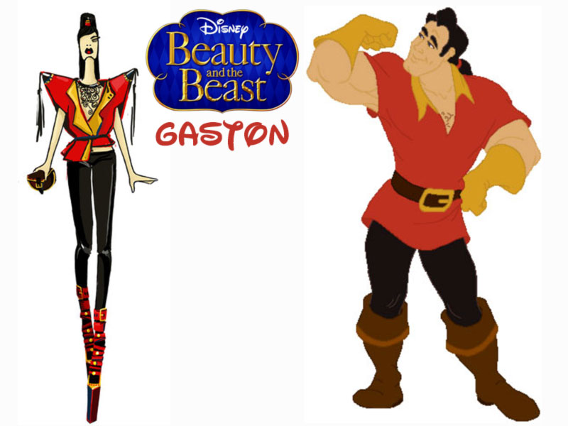 Gaston fashion update Disney Villains Beauty and the Beast