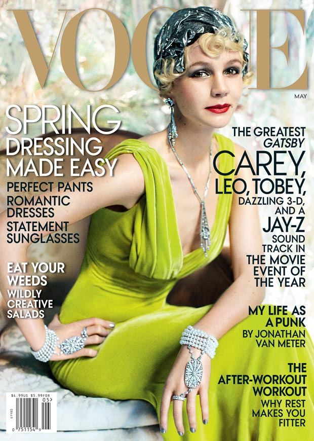 Gatsby s Daisy Carey Mulligan Vogue May 2013 cover