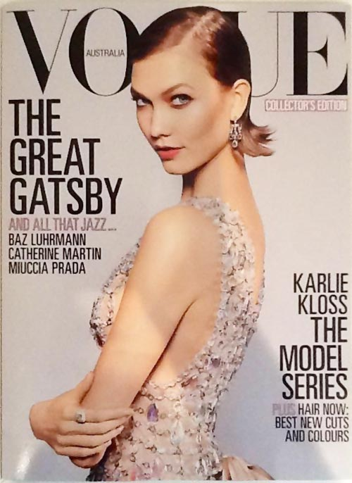 Gatsby Fashion: Karlie Kloss Vogue Australia May 2013 Model Cover