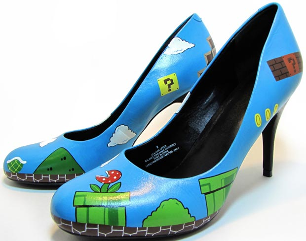 geek chic Super Mario shoes