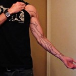 geek ink Astronomy inspired tattoo veins