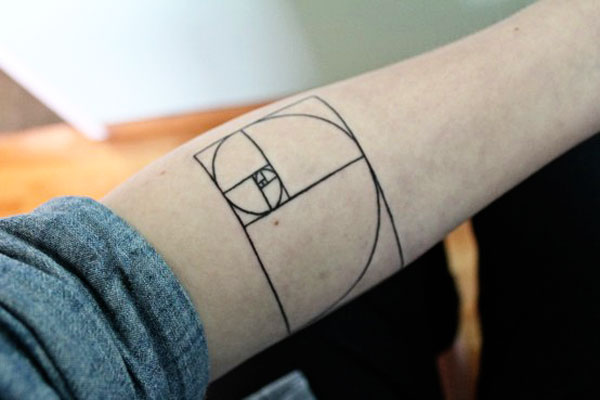 geek ink Fibonacci spiral amazing tattoo