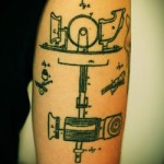 geek ink Mr Edison Phonograph tattoo
