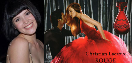 Gemma Arterton and Christian Lacroix Rouge Perfume