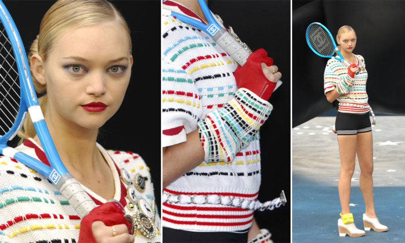 Gemma Ward Chanel SS08 tennis racket