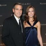 George Clooney and Sarah Larson NBR