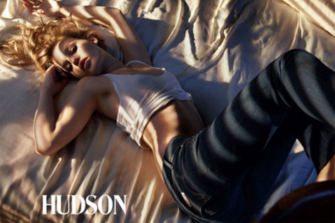 Georgia May Jagger Hudson jeans 2010 ad campaign