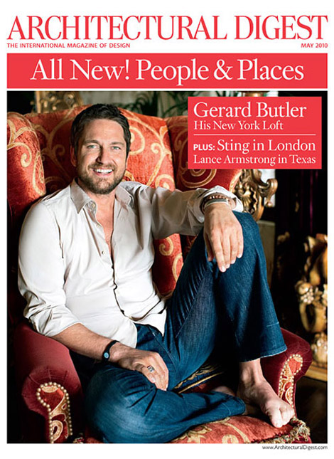 Gerard Butler Architectural Digest May 2010 cover