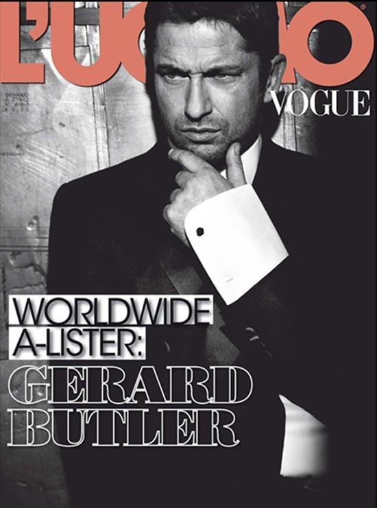 Gerard Butler covers Vogue l Uomo
