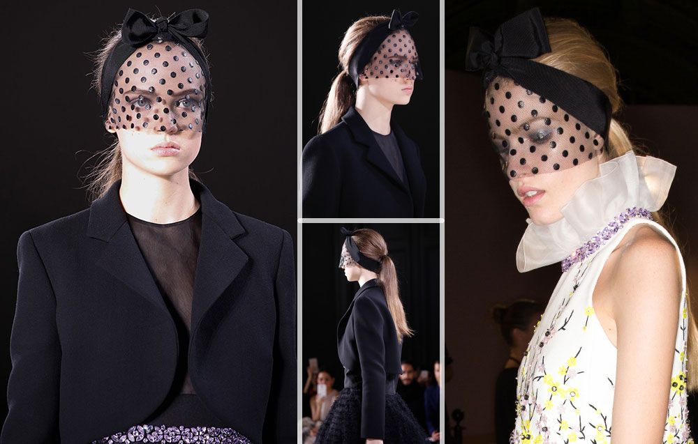 Giambattista Valli Haute Couture Spring 2015 headbands