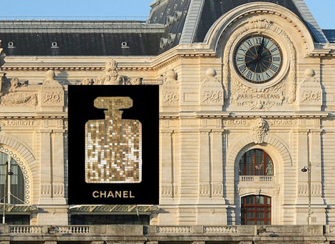 Sequined Chanel No. 5 Makes Paris' Musee D'Orsay