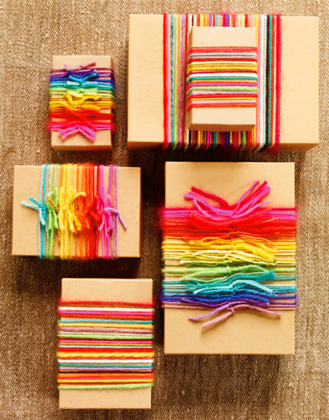 Gifts Wrapping colorful knots