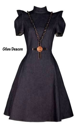 Giles Deacon Denim dress 100th anniversary Lee Cooper