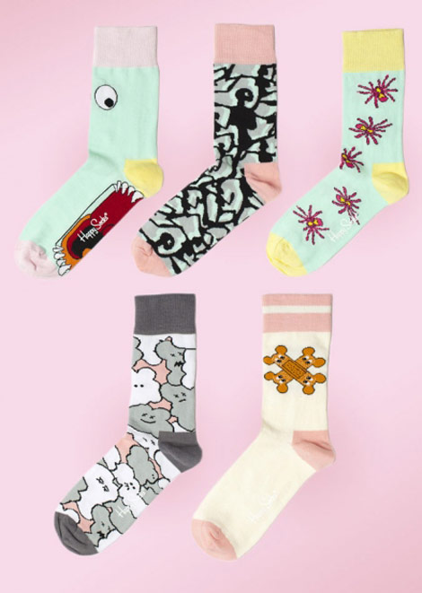Giles Deacon Happy Socks short