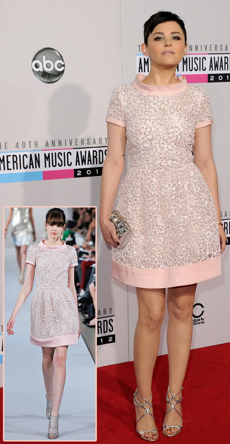 Ginnifer Goodwin de la Renta dress AMAs 2012