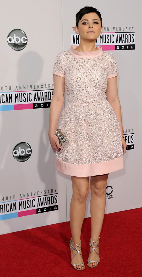 Ginnifer Goodwin pretty dress AMAs 2012