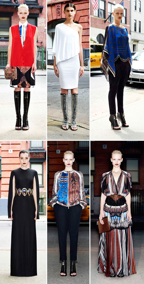gipsy scarf fashion Givenchy Resort 2013 collection