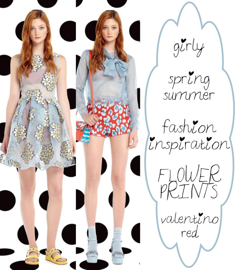 girly fashion inspiration Spring Summer flower prints